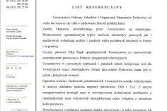 List referencyjny ZNiUT Pyskowice