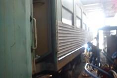 Wagon w trakcie spawania ryfli
