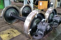 Zestawy kołowe gotowe do montażu (foto Piotr Mróz)
