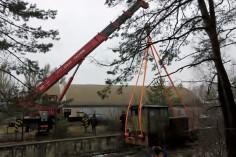 Rozpoczęta akcja wyciagnia lokomotwy (foto Krzysztof Jakubina)