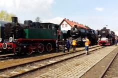 Przygotowania do Parady: TKh05353, Ty42-24 oraz czeski parowóz (foto Piotr Mróz)