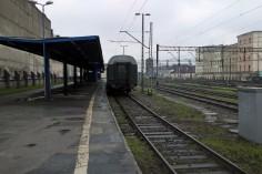Wagony oczekują na ekipę filmową (foto Krzysztof Jakubina)
