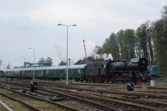 Ol49-59 z pociągiem retro