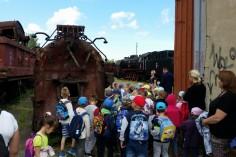 Przedszkolaki pokazano kocioł parowozowy