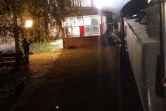 Nocne nagrania na stacji w Ścinawce Średniej (foto Piotr Mróz)