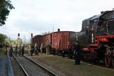 Realizacja filmu na stacji w Paczkowie (foto Piotr Mróz)