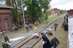 Akcja na ucieczki jeńców niemieckich na stacji w Paczkowie (foto Piotr Mróz)