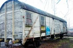 Wagon na stacji w Gogolinie foto Krzysztof Jakubina