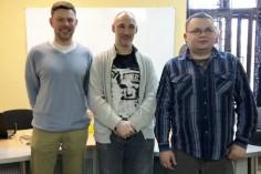 """Nowy """"sąd koleżeński"""" (od lewej: Artur Stefański, Krzysztof Frankowski, Michał Łoza)"""
