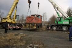 Rozpoczęcia podnoszenia lokomotywy pod załadunek