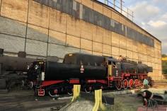 Przygotowania parowozu do wyjazdu (16.08.2018)