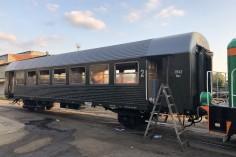 Przygotowania wagonu do wyjazdu (16.08.2018)
