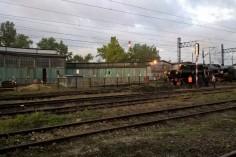 Katowice Szopienice w tle parowozownia w której Ty42-24 niegdyś pracował (foto Krzysztof Jakubina)