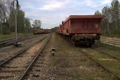 Ostatnie piaskowe składy na stacji Szczakowa Północ (foto Krzysztof Jakubina)