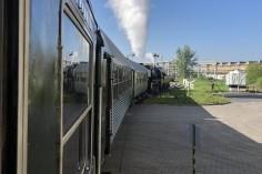 Podstawianie wagonów (foto Piotr Mróz)