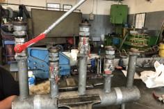 Odbiornica wody ze starymi zaworami