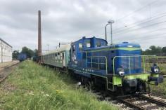 Przestawianie wagonu przez SM30