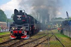 Jazda łączona w trakcie pokazów parowozów (foto Jakub Szymura)