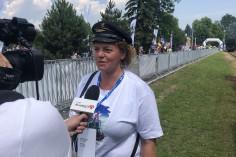 Ania udziela wywiadu (foto Piotr Mróz)