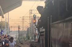 Ostatni pociąg Kraków Główny - Kraków Płaszów z sygnałem zgody na jazdę