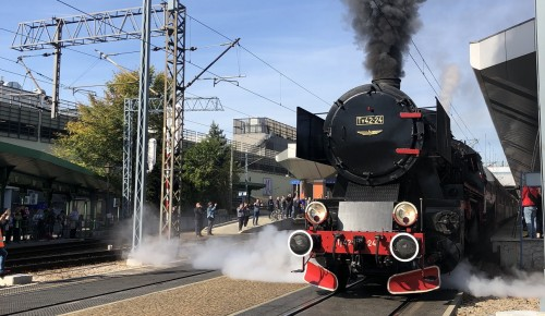 Pierwszy wyjazd ze stacji Kraków Główny trakcją parową w pełnym wdzięku
