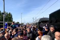 Tłumy ludzi na peronie fot. Patryk Salomon